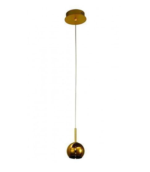 Pendente Satti Esfera Metal Dourado Vertical 12x21cm Mantra 1x Lâmpada G4 Bi-pino 110V 2489 Cozinhas e Balcões