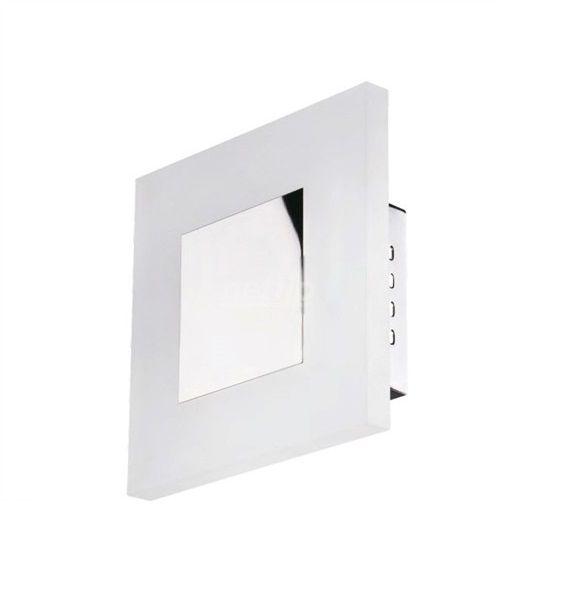 Arandela LED Lighting Quadrado Acrílico Branco Metal 21x21cm Mantra 1x LED 6W 3000K Bivolt 30058 Salas e Quartos