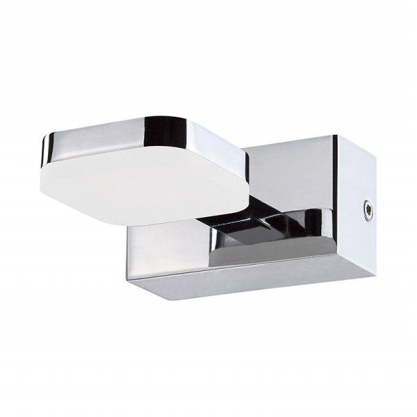 Arandela Led Lighting Alumínio Cromado Acrílico 5x9cm Mantra 1x LED 3000K 5W Bivolt 30073 Banheiros e Entradas