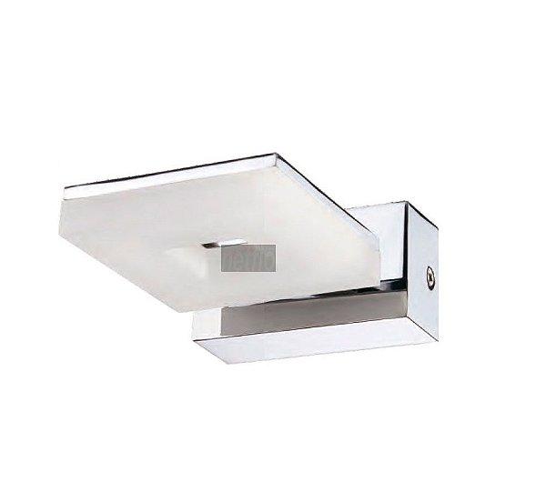 Arandela Led Lighting Alumínio Cromado Acrílico 5x9cm Mantra 1x LED 3000K 5W Bivolt 30082 Banheiros e Quartos