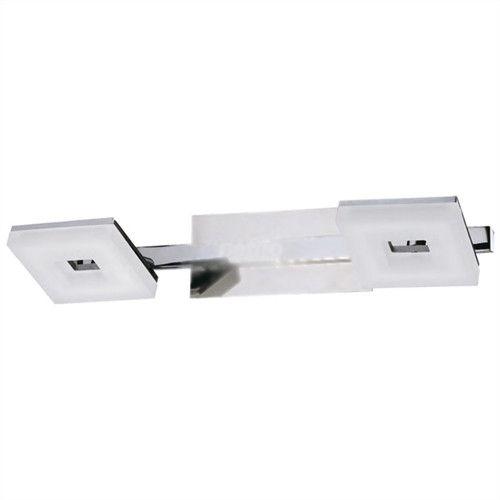 Arandela Led Lighting Dupla Acrílico Metal Cromado 7x33cm Mantra 1x LED 10W 3000K Bivolt 30083 Salas e Entradas
