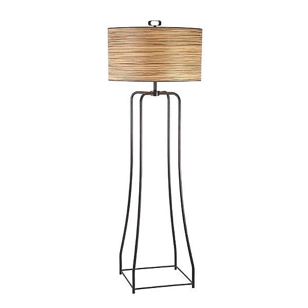 Coluna Pelagio PVC Cupula Redonda Bege Alumínio Preto 170x60cm Mantra 3x E27 24W Bivolt 30355 Salas e Quartos
