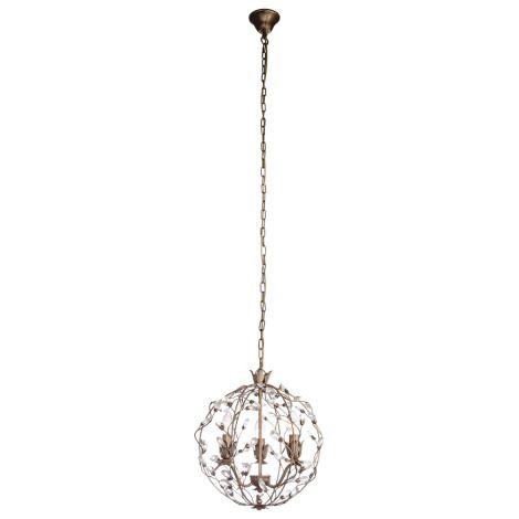Pendente Aurora Aramado Esfera Alumínio Ouro Velho 45x37cm Mantra 3x E14 40W Bivolt 30424 Salas e Entradas