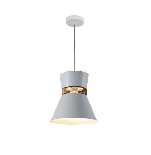 Pendente Ávila Cônico Vertical Metal Branco Fosco 25,5x17,8cm Mantra 1x E27 40W Bivolt 30452 Entradas e Salas