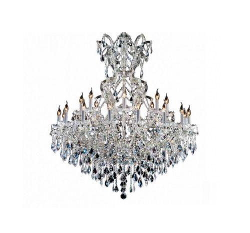Lustre Candelabro Astennu Signature Cristal Metal Cromado 135x120cm Mantra 25x E14 40W Bivolt 30494 Salas e Hall