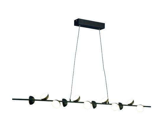 Pendente Piccioni Moderno LED Aluminío Preto Ouro Velho 150x100cm Mantra 1x LED 36W Bivolt 30498 Mesas e Corredores