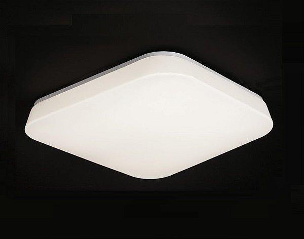 Plafon Quatro LED Quadrado Sobrepor Acrílico Leitoso 9,5x24,5cm Mantra 1 LED 10W 3000K 3767 Cozinhas e Banheiros