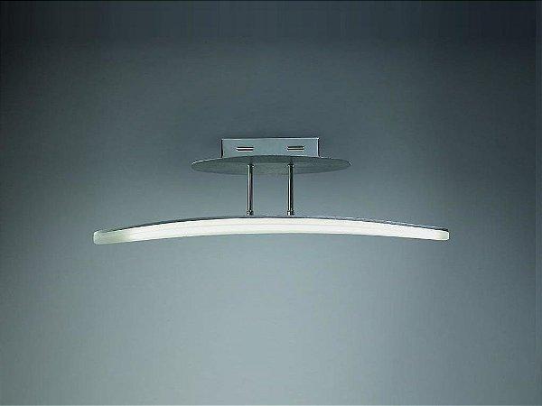 Pendente Hemisferic LED Moderno Alumínio Acrílico 21x70cm Mantra 1x LED 3000K 20W Bivolt 4083 Salas e Quartos