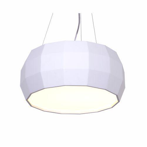 Pendente Cilindrico Multi-Facetado Madeira Imbuia 21x60cm Accord Iluminação 3x E27 25W Bivolt 118 Mesas e Cozinhas