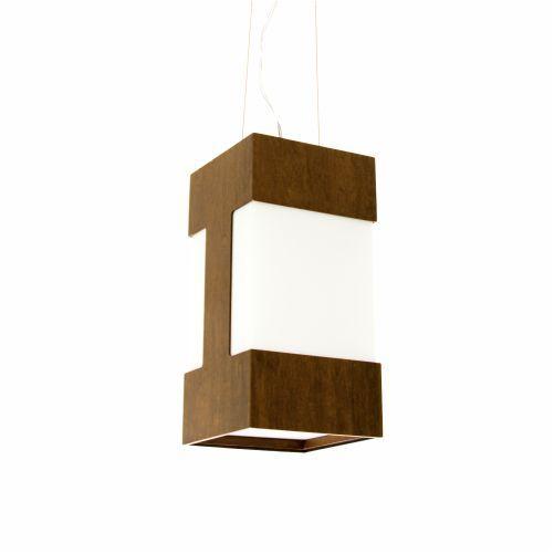 Pendente Clean Frame Vertical Retangular Madeira Imbuia 30x15cm Accord Iluminação 1x E27 Bivolt 813 Salas e Mesas