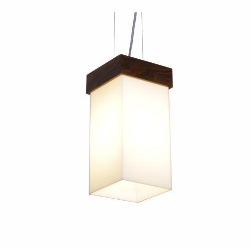 Pendente Cachepô Clean Vertical Madeira Imbuia 30x15,5cm Acordd Iluminação 1x E27 Bivolt 1058 Salas e Entradas