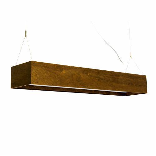 Pendente Clean Retangular Horizontal Madeira Imbuia 12x90cm Accord Iluminação 4x E27 25W Bivolt 1150 Salas e Mesas