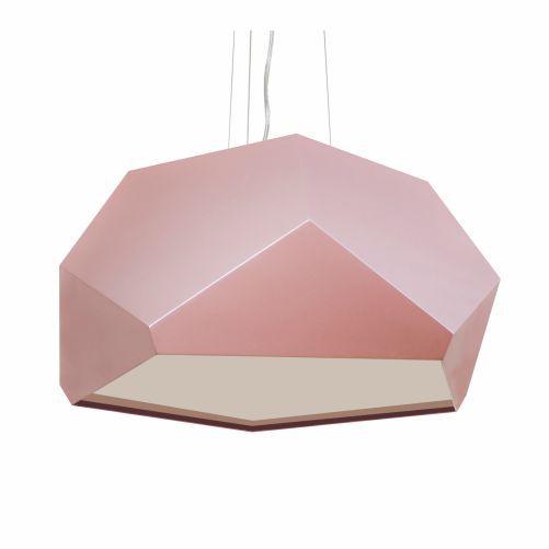Pendente Moderno Multifacetado Madeira Imbuia 35x75cm Accord Iluminação 3x E27 25W Bivolt 1227 Mesas e Quartos