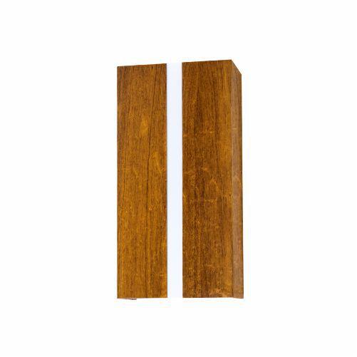 Arandela Filete Vertical Retangular Madeira Imbuia 30x15cm Accord Iluminação 2x E27 Bivolt 419 Salas e Corredores