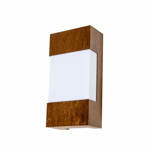 Arandela Clean Frame Vertical Madeira Imbuia 30x15cm Accord Iluminação 2x E27 25W Bivolt 428 Quartos e Salas