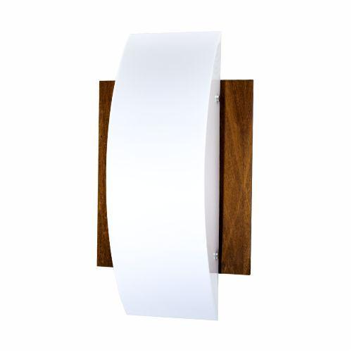 Arandela Clean Clássica Vertical Madeira Imbuia 46x26cm Accord Iluminação 2x E27 25W Bivolt 429 Salas e Corredores