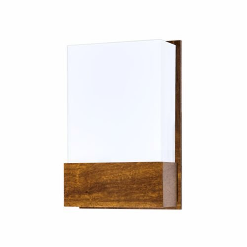 Arandela Clean Cachepô Vertical Acrílico Madeira Imbuia 30x20cm Accord Iluminação 1x E27 Bivolt 444 Salas e Hall