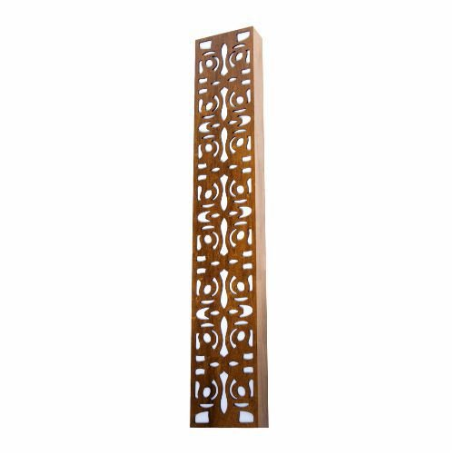 Arandela Arabesco Vertical Retangular Madeira Imbuia 30x15cm Accord Iluminação 2x E27 Bivolt 448 Salas e Hall