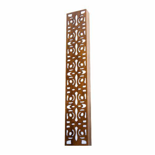 Arandela Arabesco Vertical Retangular Madeira Imbuia 30x15cm Accord Iluminação 4x E27 Bivolt 457 Salas e Hall