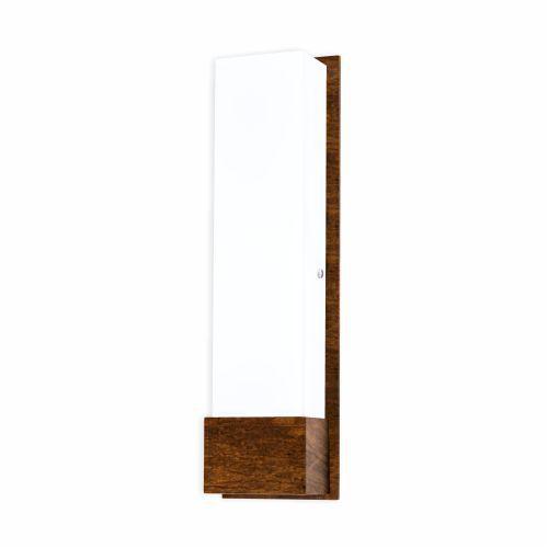 Arandela Clean Cachepô Vertical Acrílico Madeira Imbuia 47x13cm Accord Iluminação 2x E27 Bivolt 465 Salas e Hall