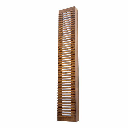 Arandela Ripada Longa Retangular Madeira Imbuia 120x20cm Accord Iluminação 3x E27 Bivolt 471 Salas e Entradas