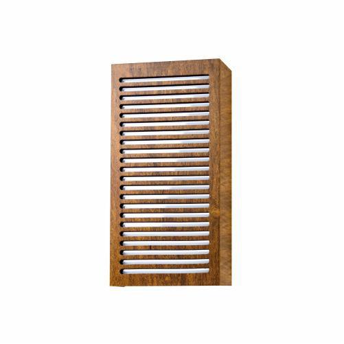 Arandela Riscos de Luz Clean Vertical Madeira Imbuia 30x15cm Accord Iluminação 2x E27 25W 580 Quartos e Salas
