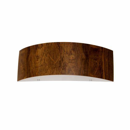 Arandela Meia Lua Cilindrica Curva Madeira Imbuia 15x46cm Accord Iluminação 2x E27 25W Bivolt 4013 Salas e Hall