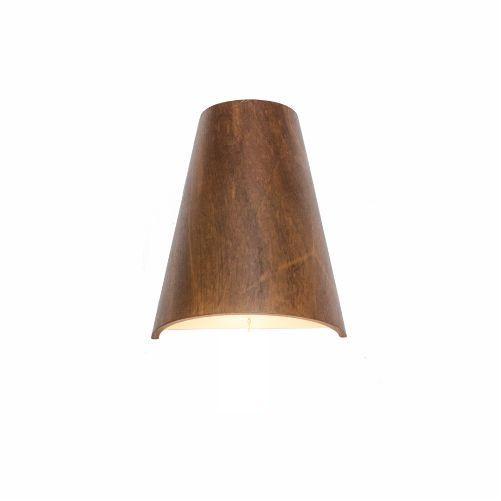Arandela Liso Cônica Vertical Madeira Imbuia 25x20cm Accord Iluminação 1x E27 25W 4018 Salas e Entradas