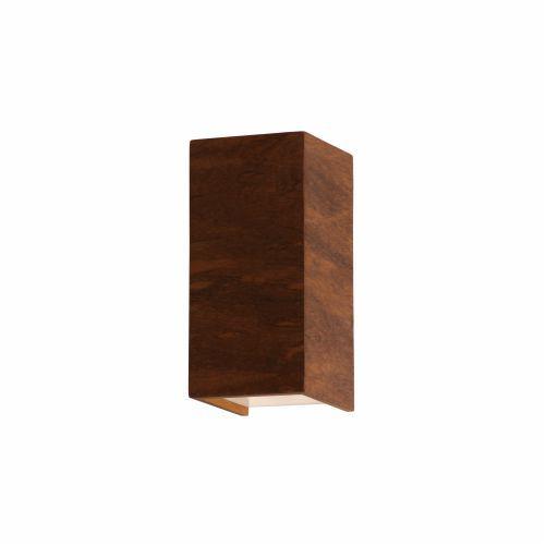 Arandela Slim Tubo Cubico Vertical Madeira Imbuia 15x7,5cm Accord Iluminação 2x G9 Halopin Bivolt 4025 Salas e Hall