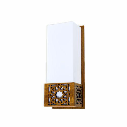 Arandela Star Vertical Acrílico Madeira Imbuia 30x12cm Accord Iluminação 1x E27 25W Bivolt 4052 Entradas e Salas