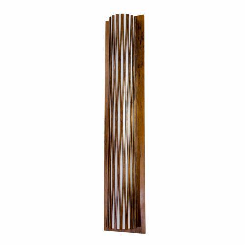 Arandela Living Hinges Tubular Vertical Madeira Imbuia 100x20cm Accord Iluminação 2x E27 25W 4067 Mesas e Balcões