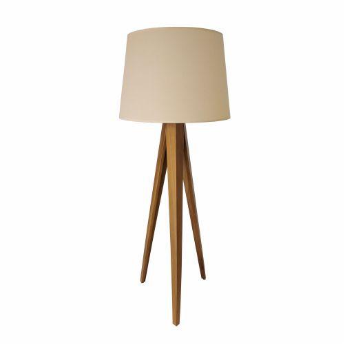 Coluna Kyrios Tripé Vertical Cupula Madeira Imbuia 165x60cm Accord Iluminação 1x E27 25W 3019 Salas e Quartos