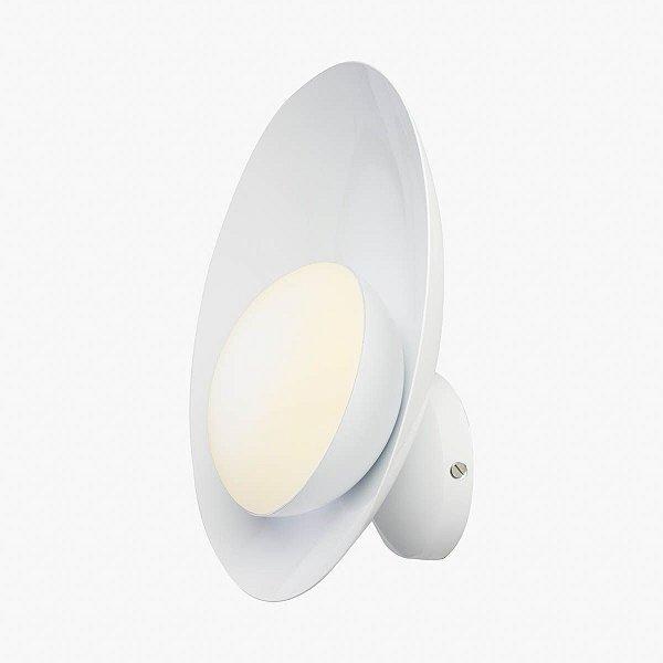 Arandela Orvalho LED Curva Moderna Alumínio Branco 27x27cm Golden Art 1x LED 3 Watts P1820-1 Camas, Cabeceiras, Salas, Escritórios