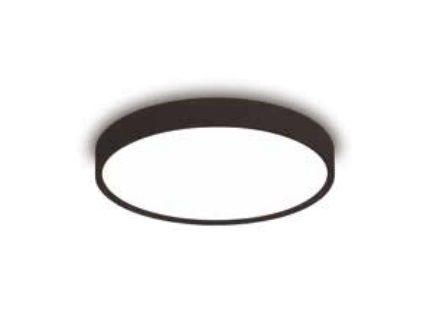 Plafon Ring Redondo Sobrepor Alumínio Preto Acrílico 10,5x60cm Newline 6x E27 25W Bivolt 9047PT Salas e Quartos