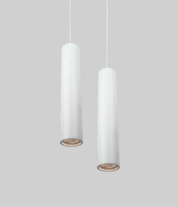 Pendente Lisse Duplo Tubular Alumínio Vertical 29,5x5,6cm Newline 1x GU10/ GZ10 PAR16 IN50800BT Salas e Cozinhas