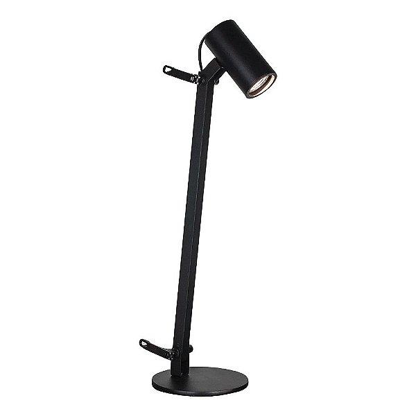 Luminária de Mesa Lisse Articulada Alumínio Preto 58x36cm Newline 1x GU10/ GZ10 Mini LED 222PT Mesas e Escritórios