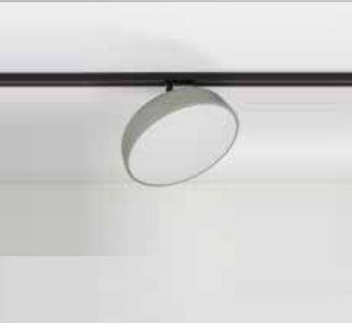 Plafon Victoria Redondo Sobrepor Alumínio Acrílico 9,5x29cm Newline 1x E27 25W Bivolt 160APNF Salas e Cozinhas