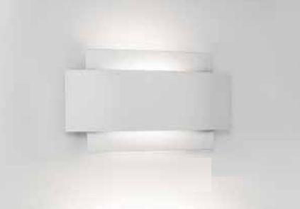 Arandela Courbe Curva Sobrepor Alumínio Branco 21,6x12,2cm Newline 1x PCI LED 6W 335LED1BT Corredores e Quartos