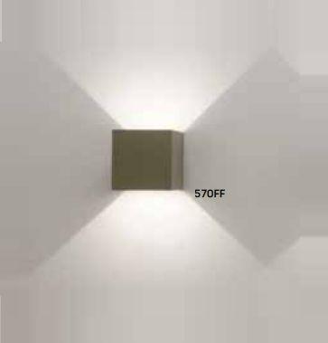 Arandela Cubo Sobrepor Facho Ajustável Alumínio 10x10cm Newline 1x LED 6W 3000K Bivolt 570FF Corredores e Salas