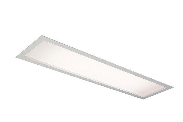 Luminária Flat Acrílico Embutida Retangular Alumínio 68,8x18,5cm Newline 2x G13 16-18W IN8007BT Cozinhas e Salas