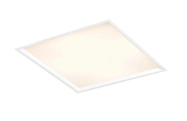 Luminária Slim Embutida Quadrada Metal Acrílico 24x10,2cm Newline 2x E27 25W Bivolt IN9001 Salas e Entradas