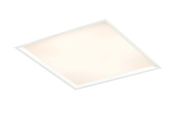 Luminária Slim Embutida Quadrada Metal Acrílico 37x10,2cm Newline 4x E27 25W Bivolt IN9002 Salas e Entradas