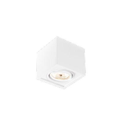 Spot Box Sobrepor Quadrado Alumínio Branco 11,7x10,5cm Newline 1x GU10 AR70 LED IN41141BT Salas e Cozinhas
