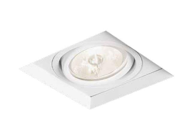 Spot No Frame LED Embutido Quadrado Direcionável 10x9,6cm Newline 1x GU10 AR70 Bivolt IN61341BT Quartos e Salas