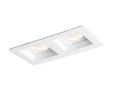 Spot Flat Duplo Embutido Retangular Metal Branco 9x8,5cm Newline 2x GU10 PAR16 IN65022BT Salas e Cozinhas