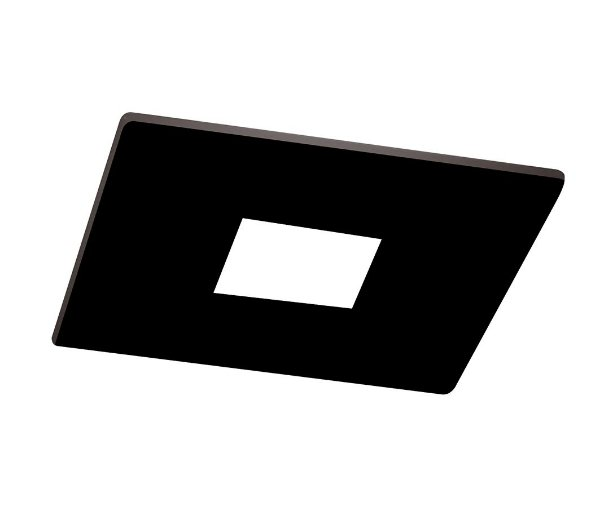 Spot Lisse Pin Hole Embutido Quadrado Alumínio 6,3x7cm Newline 1x GU10/GZ10 LED IN50931PT Salas e Cozinhas