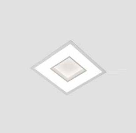 Plafon New Chess LED Embutido Quadrado Acrílico 6,7x28,5cm Newline PCI LED 20W Bivolt 500LEDBT Salas e Entradas