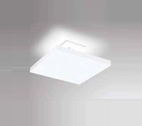 Plafon Tray LED Sobrepor Quadrado Metal Branco 14x40cm Newline PCI LED 30W Bivolt 530LEDBT Salas e Entradas