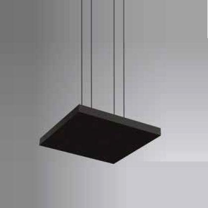 Pendente Tray LED Horizontal Quadrado Metal Preto 3,5x40cm Newline PCI LED 30W Bivolt 535LEDPT Salas e Entradas