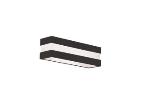 Arandela New Quadrus Alumínio Acrílico Preto 10,5x47cm Newline 1x E27 25W Bivolt 11787PT Entradas e Corredores